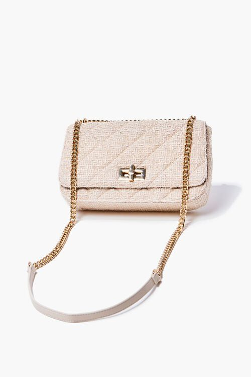 CREAM Quilted Dual-Strap Shoulder Bag, image 1