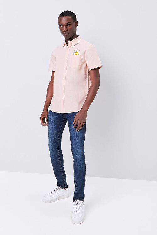 Fitted Embroidered Flower Pocket Shirt, image 5