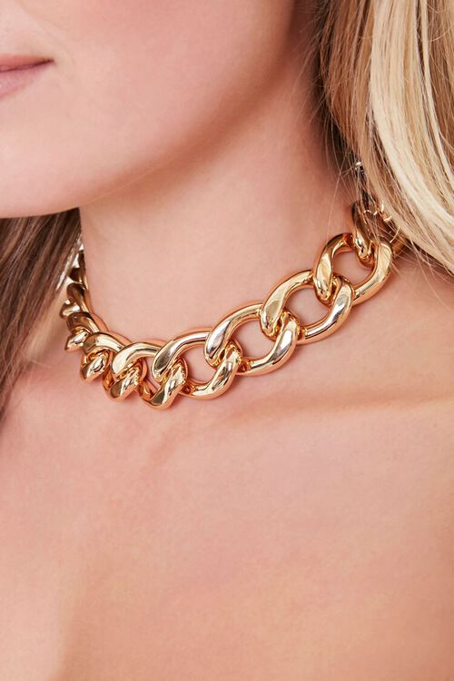 Chunky Chain Choker Necklace, image 1