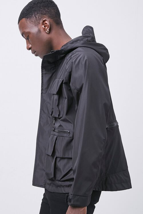 Zip-Up Hooded Utility Jacket, image 2