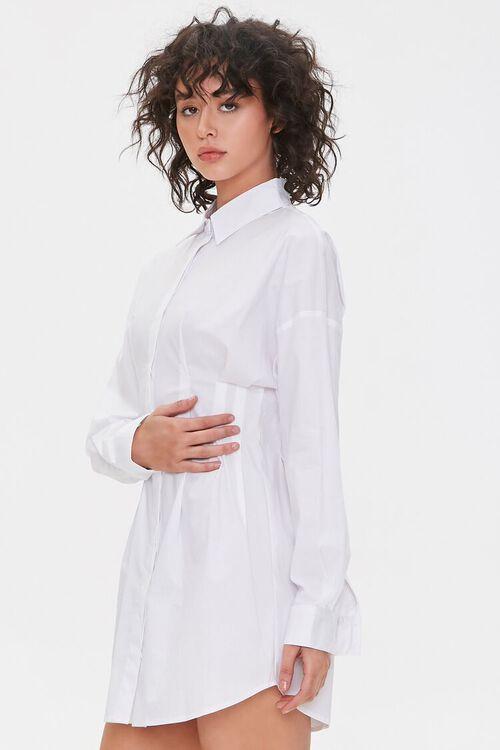 Dropped-Sleeve Shirt Dress, image 2