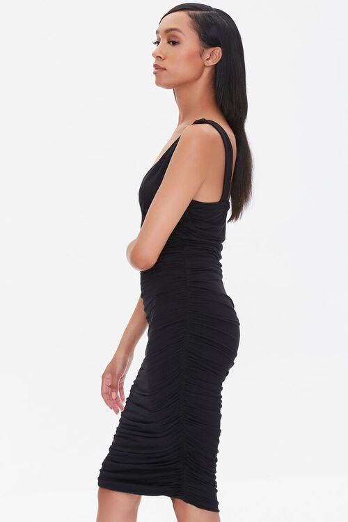 Ruched Knee-Length Bodycon Dress, image 2