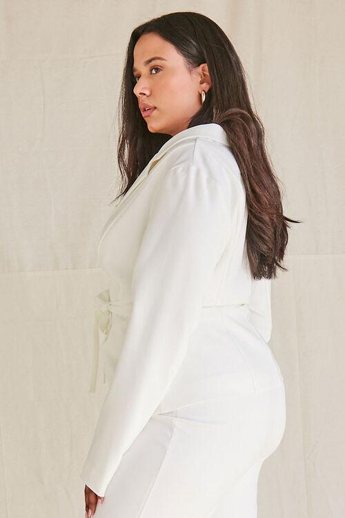 Plus Size Tie-Front Notched Blazer, image 2