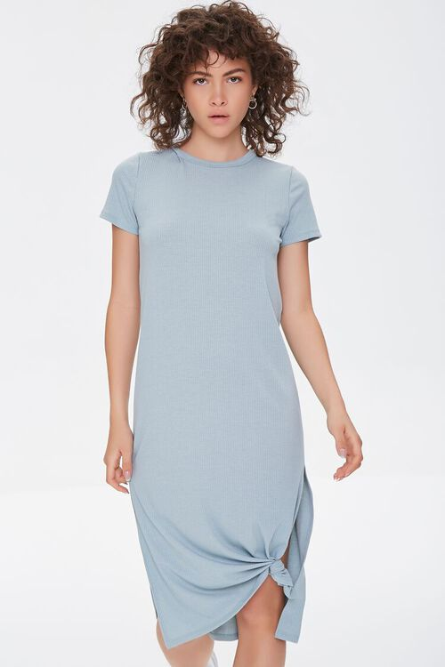 Recycled Leg-Slit T-Shirt Dress, image 1