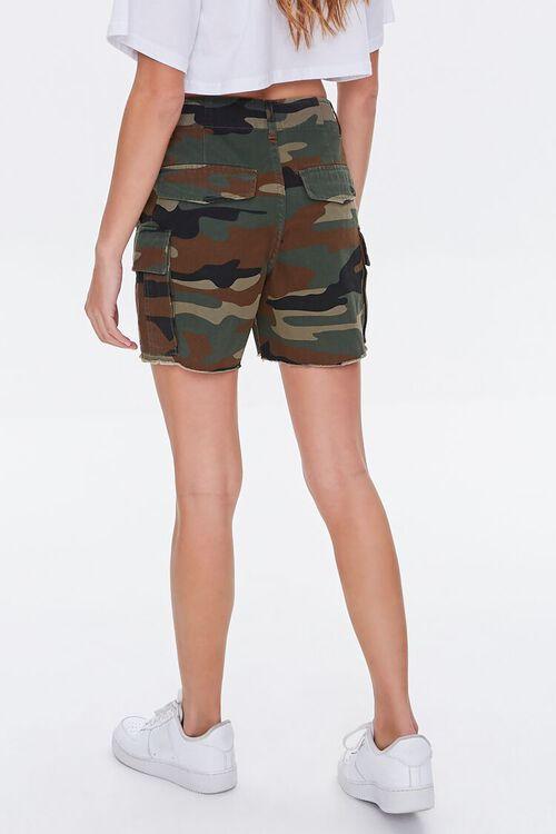 OLIVE/MULTI Camo Cargo Shorts, image 4