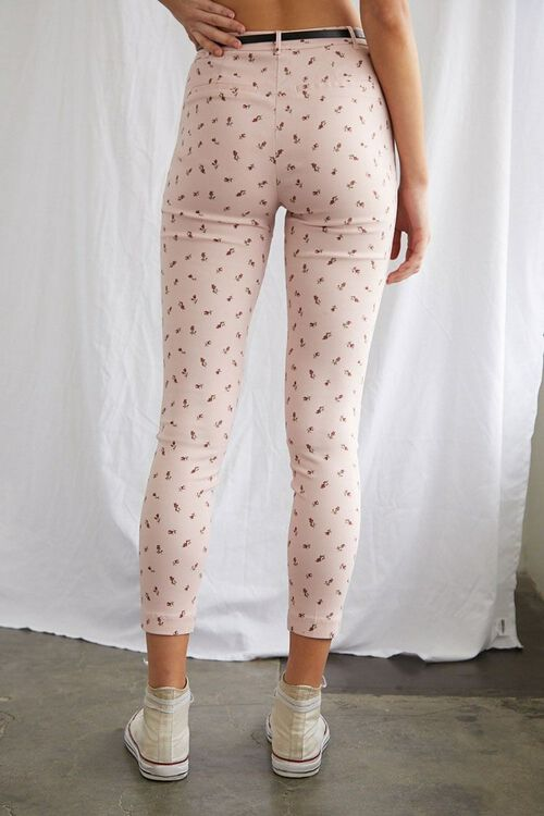 Belted Floral Ankle Pants, image 4