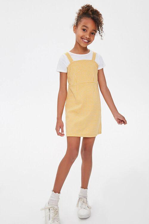 Girls Gingham Plaid Dress (Kids), image 4