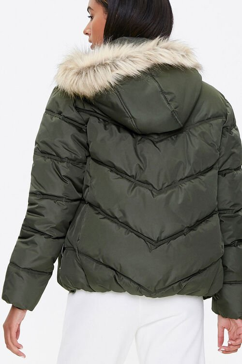 Faux Fur Hooded Puffer Jacket, image 3