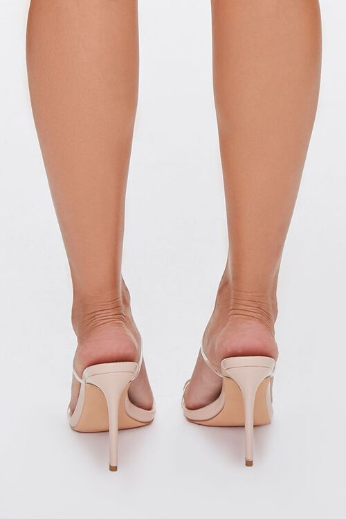 NUDE/CLEAR Faux Leather Stiletto Heels, image 3