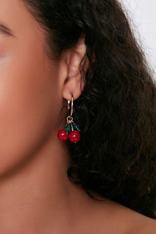 Cherry Charm Drop Earrings, image 1