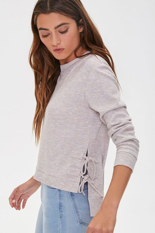 Lace-Up High-Low Top, image 3