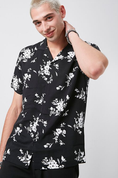 Classic Fit Floral Print Shirt, image 1