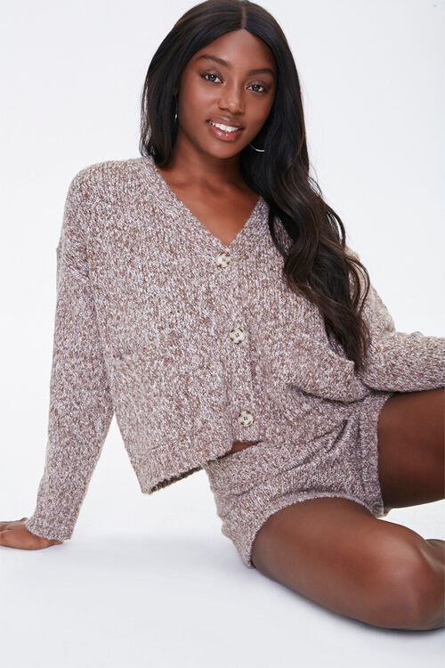 Marled Button-Front Cardigan, image 1