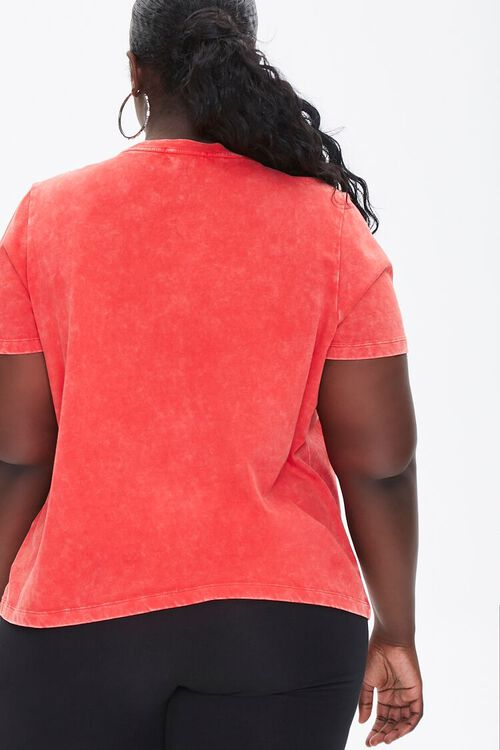 RED/MULTI Plus Size Fierce Graphic Tee, image 3