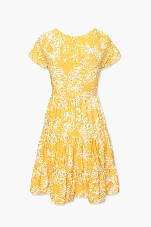 Tropical Leaf Print Dress, image 2