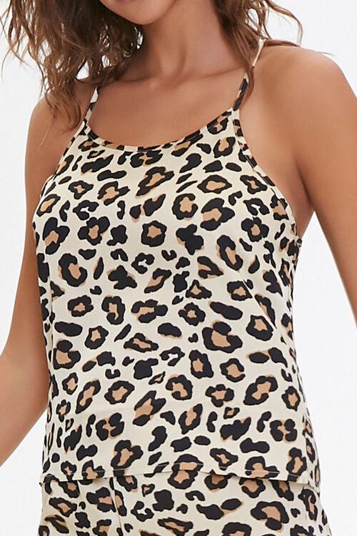 Leopard Print Cami & Shorts Set, image 4