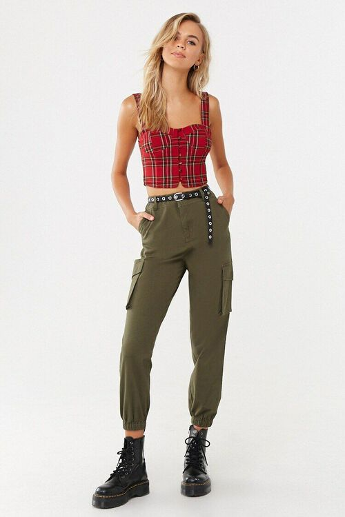 Sweetheart Plaid Crop Top, image 4