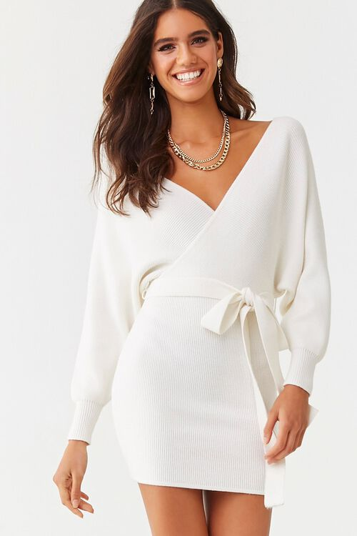 Faux Wrap Mini Dress, image 1