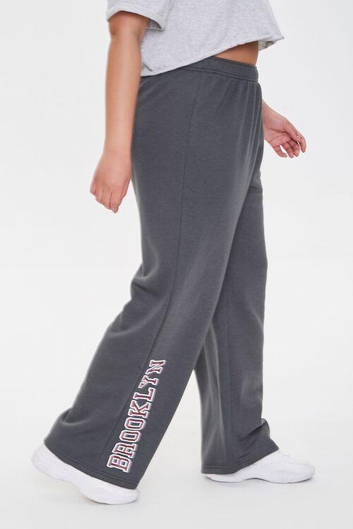 CHARCOAL Plus Size Brooklyn Graphic Sweatpants, image 3