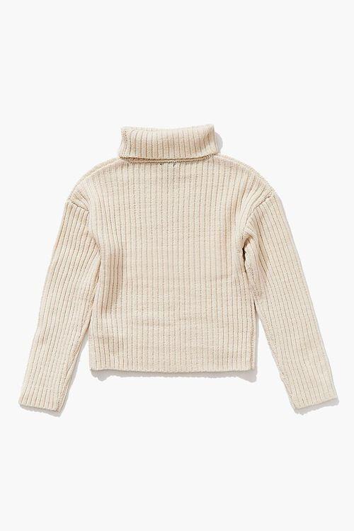 Girls Foldover Turtleneck Sweater (Kids), image 2