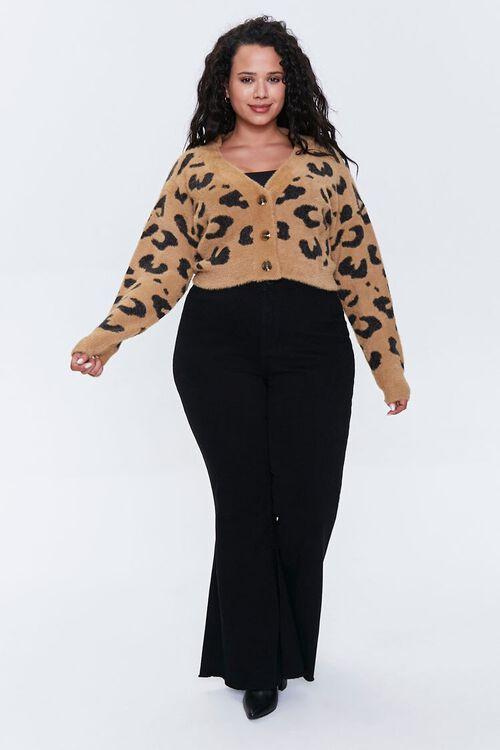 Plus Size Leopard Cardigan Sweater, image 4