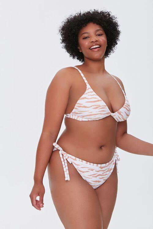Plus Size Tiger Print String Bikini Bottoms, image 7