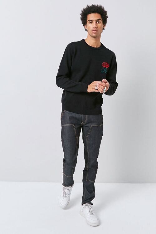 Brushed Rose Graphic Sweater, image 4