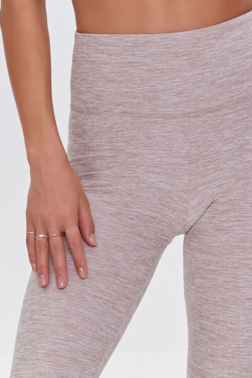 HEATHER PINK Active Heathered Leggings, image 5