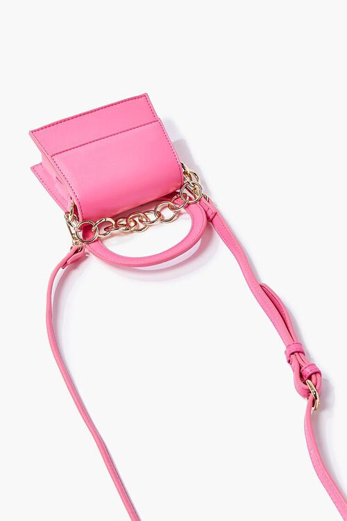 PINK Chain-Strap Structured Crossbody Bag, image 4