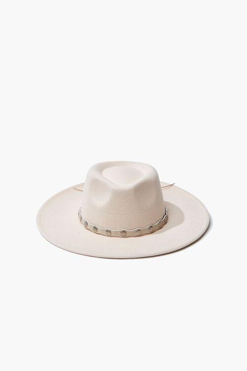 Studded-Trim Felt Panama Hat, image 1