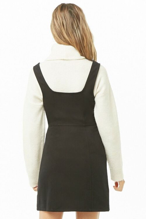 Button-Front Square Neck Dress, image 3