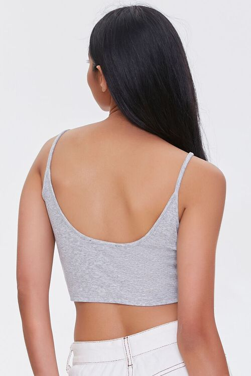 HEATHER GREY Ribbed Cropped Cami, image 3