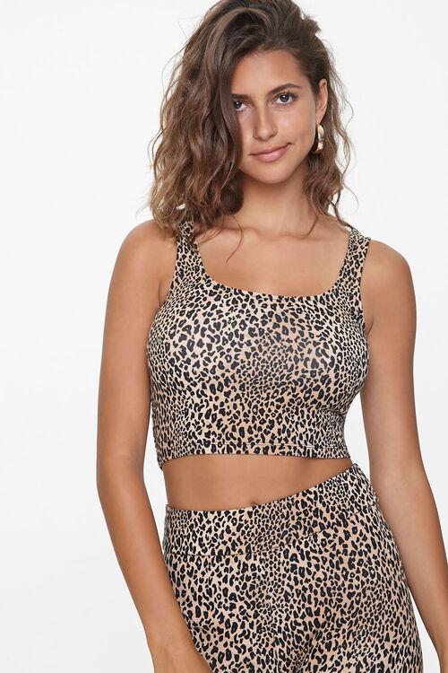 Leopard Print Crop Top, image 1