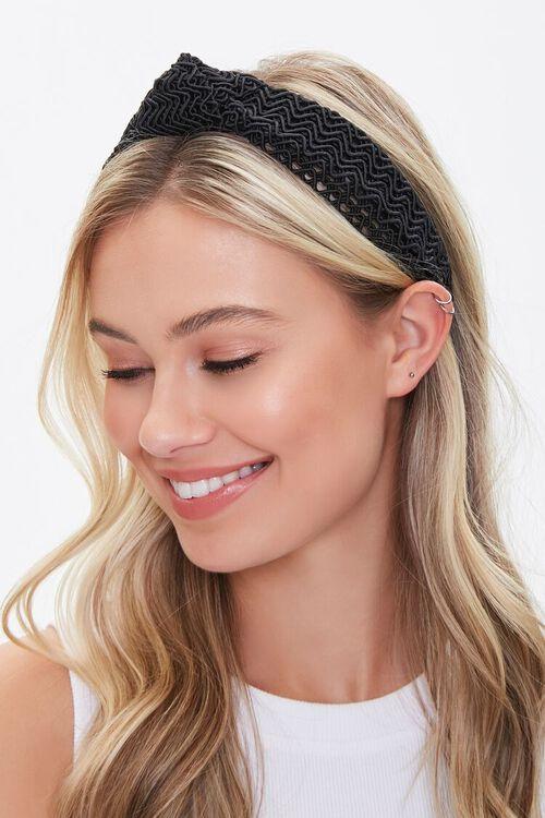 Zig-Zag Knotted Headband, image 1