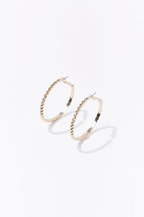 Upcycled Twisted Hoop Earrings, image 2