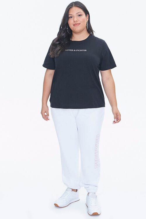 Plus Size Stand Up To Cancer Lover & Fighter Tee, image 4