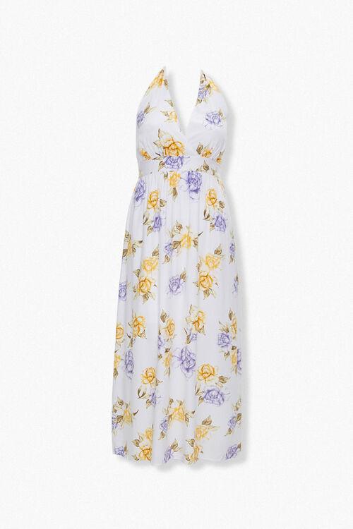 Plus Size Floral Print Halter Dress, image 1