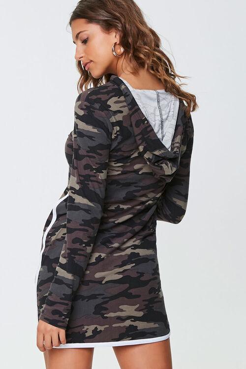 Camo Print Hoodie Dress, image 3