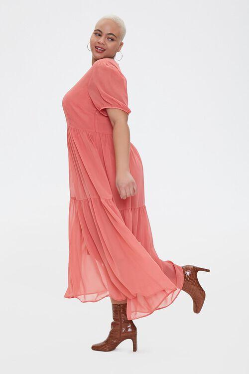 Plus Size Tiered Midi Dress, image 3