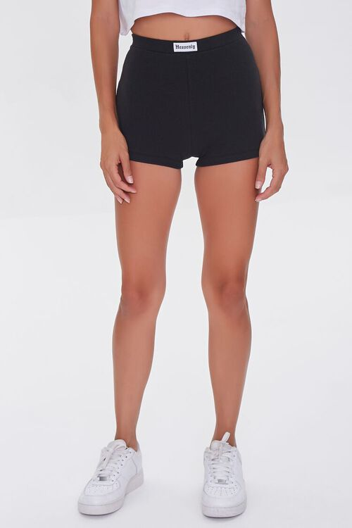 High-Rise Knit Shorts, image 2