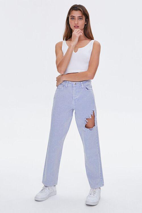 Straight-Leg High-Rise Jeans, image 1