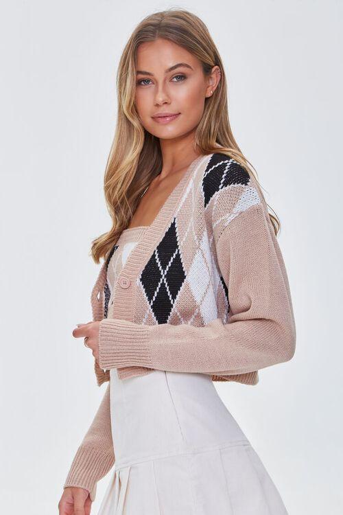 BLUSH/MULTI Argyle Bandeau & Cardigan Sweater Set, image 2