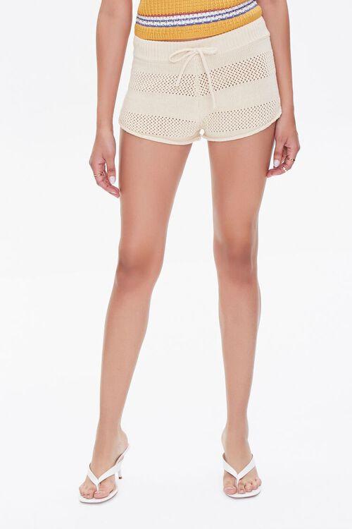 Perforated Drawstring Shorts, image 2