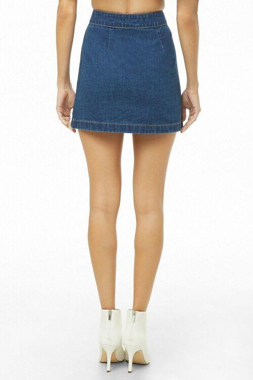 Button-Front Denim Mini Skirt, image 4