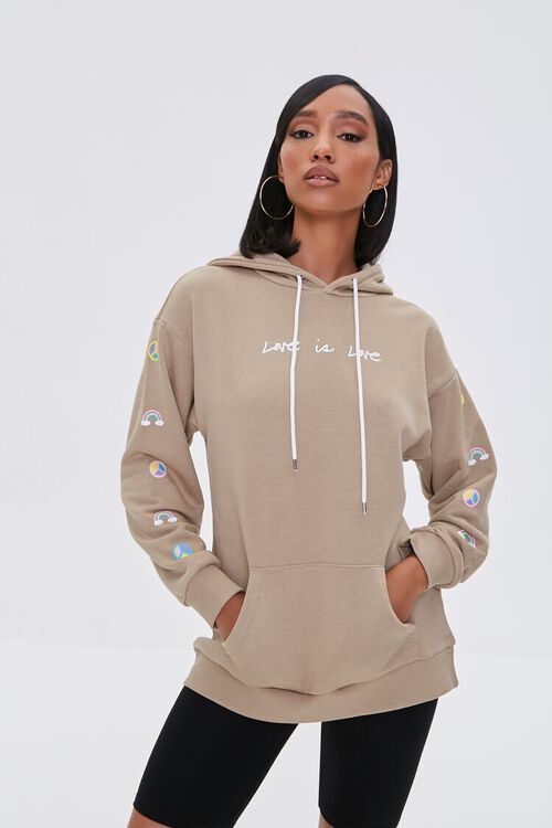 Love Embroidered Graphic Hoodie, image 2