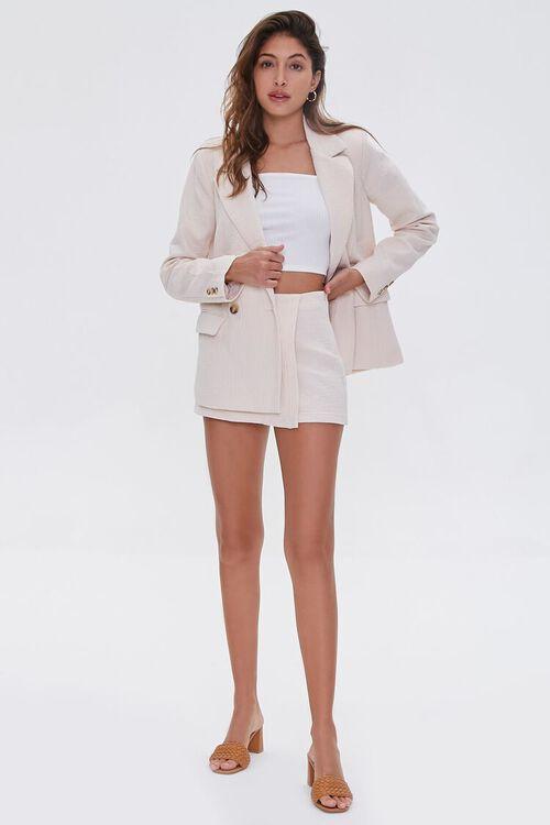 BEIGE Cotton-Blend Button-Front Blazer, image 4