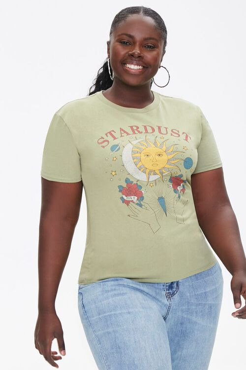 Plus Size Stardust Graphic Tee, image 1