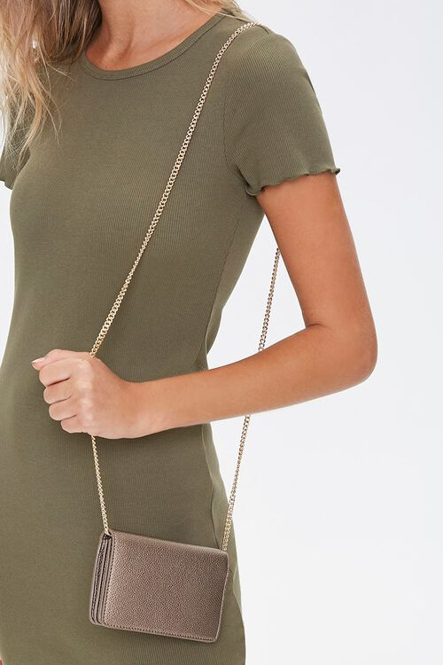Pebbled Faux Leather Crossbody Bag, image 1