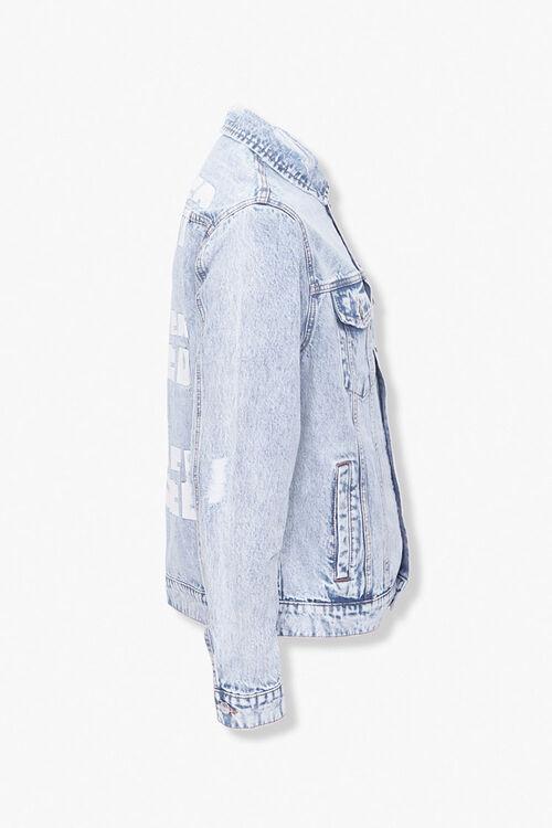 Blessed Cursed Graphic Denim Jacket, image 2