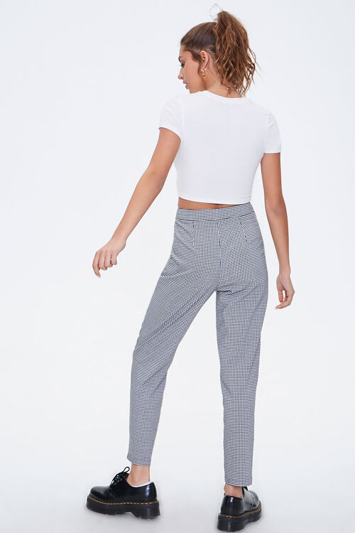 Gingham Cropped Pants, image 4